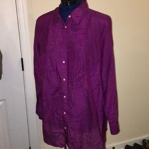 Ralph Lauren silk tunic blouse sz18